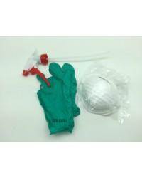 Набор обработчика ИНСО №1 (резиновые перчатки + респиратор + триггер на бутыль)