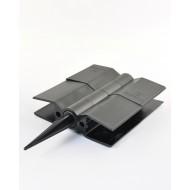 Стыковочный элемент для грядок Еврогрядка™, 150x30 мм, цвет черный