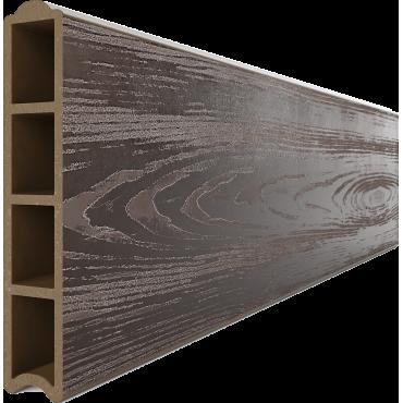 Доска для грядок из ДПК, Еврогрядка™ (глянец + тиснение 3D), 3000х30х155мм с замком