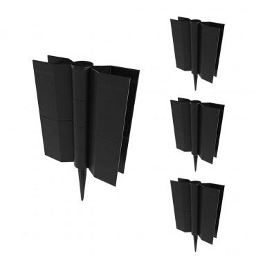 Комплект стыковочных элементов для грядок Еврогрядка™, высота 150мм, цвет черный, 4 шт