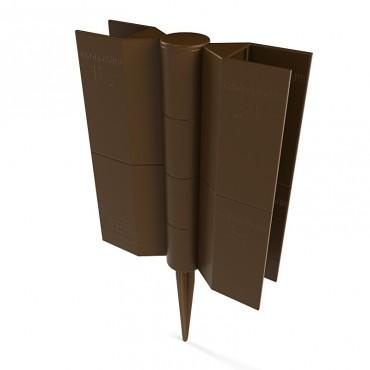 Шарнирный стыковочный элемент Еврогрядка™ Standart, для грядок и клумб (коричневый)