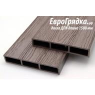 Ограждение для грядок и клумб ЕвроГрядка, доска из ДПК (1500х150х25мм)