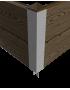 Угловой стыковочный элемент для грядок Еврогрядка® (алюминий, высота 300мм)