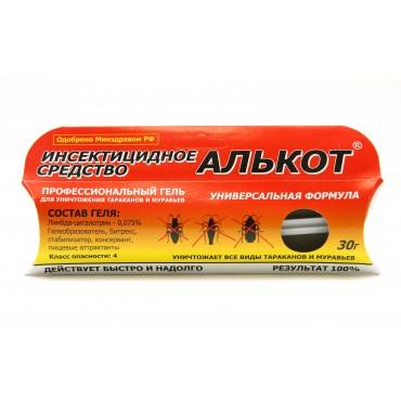 Инсектицидный средство от тараканов и муравьев Алькот Гель, 30г