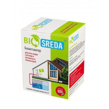 """Для септиков и автономных канализаций биоактиватор """"BIOSREDA"""", 600 гр 24 пакетика"""