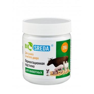 """Ферментационная подстилка """"Biosreda"""" для с/х животных, 250 гр банка"""