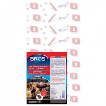 Bros (Брос) клеевая ловушка для отлова мух и других летающих насекомых (специальный объемный рисунок) (32x55см), 5 шт