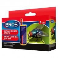 Bros (Брос) липкая лента от мух в упаковке, 4 шт