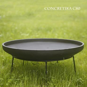 Чугунная чаша на чугунной подставке Concretika iron С80