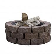 Чаша Concretika iron P60 на основании из состаренного бетона 1 уровень кладки