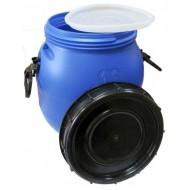 Бочка п/э с винтовой крышкой синяя на 30 литров