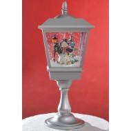 Снежный фонарь BigSanta Gray (с эффектом падающего снега)