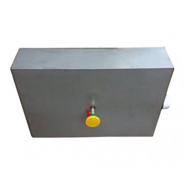 Бак для душа 80 л нержавейка с нагревателем, краном и лейкой