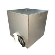 Бак для душа квадратный нержавейка с нагревателем 125 л