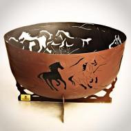 """Костровая чаша """"Лошади"""" от FireCup"""