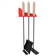 Набор инструментов для печи-мангала (кочерга, совок, скребок, кронштейн)