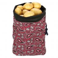 Дышащий мешок для хранения овощей (цвет бордовый)