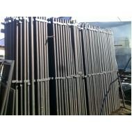 Столбики заборные малые металлические (комплект 6 шт.) высотой 1 м