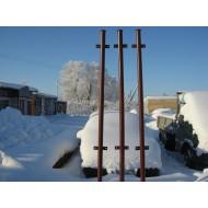 Столбики заборные малые металлические (комплект 5 шт.) высотой 1,5 м