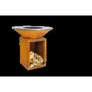 Костровая чаша-гриль OFYR CLASSIC с поленницей 100-100