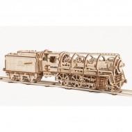 Механическая модель Локомотив с тендером от Ugears