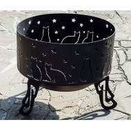 Костровая чаша «Коты», 600х750мм